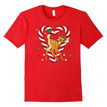 Disney Bambi Candy Cane Christmas T Shirt