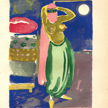 Rare Limited Edition Print Kees van Dongen Art, A Thousand and One Nights,