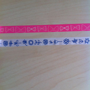 Bow and Flower Washi Tape Set