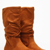 Soda Camel Slouchy Faux Suede Boots