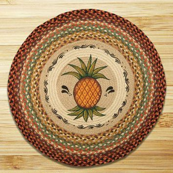 Pineapple Round Patch Rug