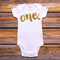 First Birthday Shirt Baby Girl Party Cake Smash Outfit 1st