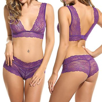Women Lingerie Sleepwear Lace Pajama Sexy Camisole Short Sets