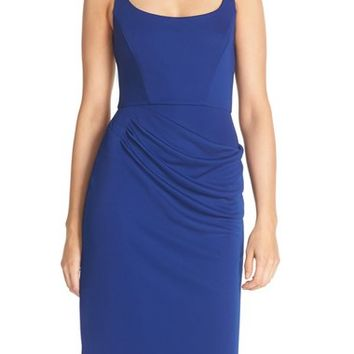 BCBGMAXAZRIA 'Stelah' Draped Jersey Sheath Dress | Nordstrom