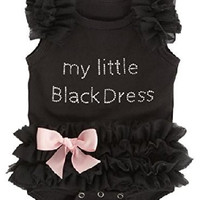 Baby My Little Black Dress Onesuit, Black,(0-6 Months)