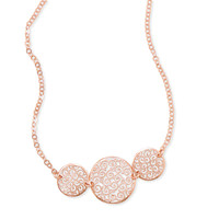 Italian 14 Karat Rose Gold Plated Necklace with Filigree Disc Design