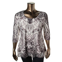 Style & Co. Womens Stretch Embellished Tunic Top