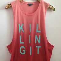 Killing It - Red Ombre - Ruffles with Love - Graphic Tee - RWL