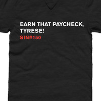 Limited Edition Earn That Paycheck Tee (Heather Black)