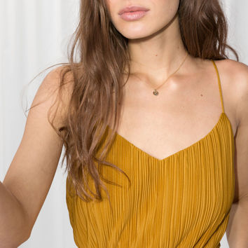 Pleated Plissé Tank Top - Mustard - Tanktops & Camisoles - & Other Stories US