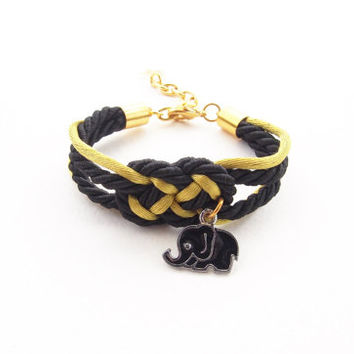 Nautical bracelet - sailor bracelet - rope knot jewelry - infinity knot rope - elephant jewelry