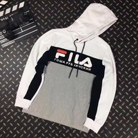 ONETOW FILA Woman Men Casual Fashion Hoodie Top Sweater Pullover