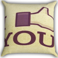 I Like You Funny A0300 Zippered Pillows  Covers 16x16, 18x18, 20x20 Inches