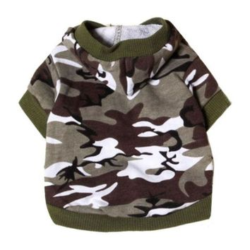 ONETOW 2015 Hot selling New clothes for dogs Pet Sweatshirt Camo Camouflage Coats Hoodies Costume  pet clothes
