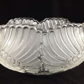 Mikasa Jardiniere Walther-Glass Crystal Swan West Germany Frosted