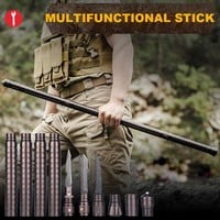 Outdoor Camping DIY Self Defense Stick Safety Multi-Functional Home Car Defensive Protection Rod Hiking Emergency Survival Tool