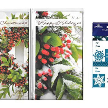 Hallmark 'Happy Holidays' Christmas Gift Card/Money Holders w/ Gift Tags