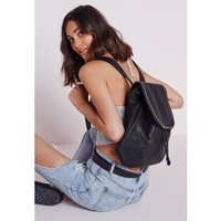 Oversized Chain Trim Backpack Black - Accessories - Bags & Purses - Missguided