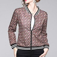 Burberry Popular Women Fashion Print Cardigan Jacket Coat