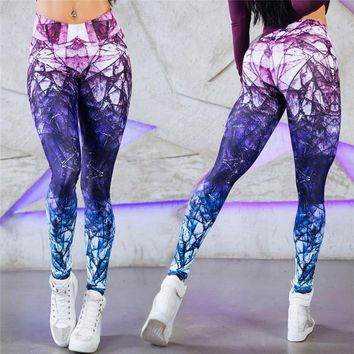 2018 Fashion Sexy Hot Sale New Novelty 3D Printed  Space Galaxy Leggings