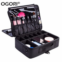 Professional Makeup Storage Organizer 3 Layer Large Capacity Bolso Mujer Cosmetic Case Storage Bins Free Disassembly Suitcases
