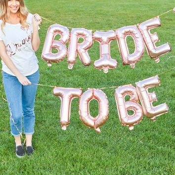 "Rose Gold 16"" Balloon Banner 