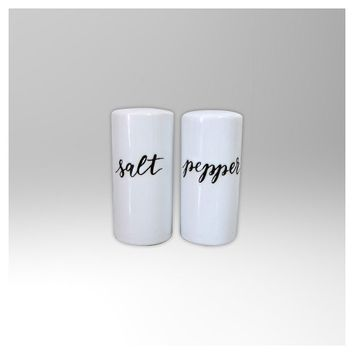 Stoneware 2pc Salt and Pepper Shakers - Threshold™