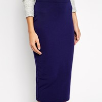 ASOS Midi Pencil Skirt in Jersey at asos.com