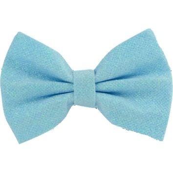 Glitter Hair Bow, Sky Blue