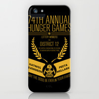 74th annual hunger games poster iPhone & iPod Case by BomDesignz
