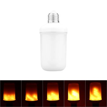 E27 99SMD 3528SMD 5W LED Flame Effect Fire Light Bulbs Dynamic Moving Flame Flickering Emulation Decorative Lamps Dancing Flickering Flame