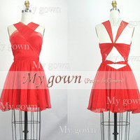 2014 prom dress,Red Short Dress,Prom Dresses, Cocktail Dresses, Evening Gown,Party Dress,bridesmaid dress