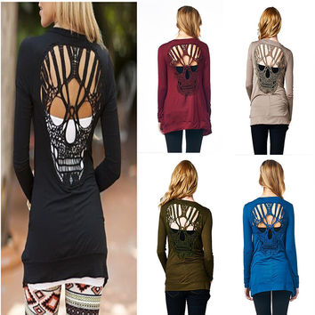 Skull Long Sleeve Cardigan [7278809223]