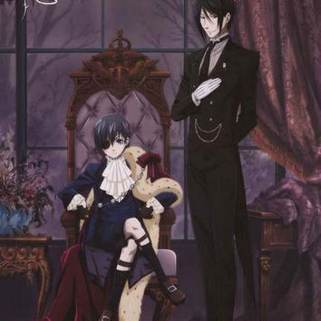 Black Butler Ciel and Sebastian Poster 24x36