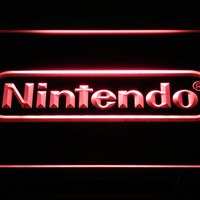 Nintendo Game Room Bar Beer LED Neon Sign with On/Off Switch 7 Colors to choose sent in 24 hrs
