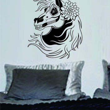 Day of the Dead Horse Wall Vinyl Decal Sticker Art Graphic Sticker Sugar Skull
