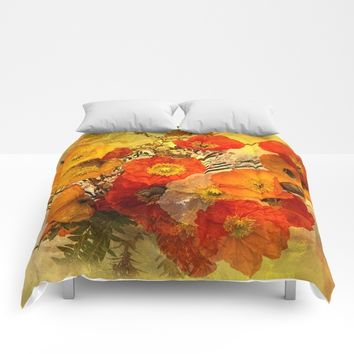 Poppy Expressions Comforters by Theresa Campbell D'August Art