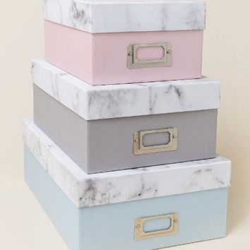 Marble Storage Box Set