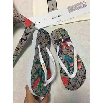 GUCCI Fashion Casual Flip Flops Sandal Slipper Shoes
