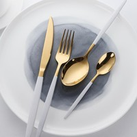 16/24/48pc Lark Gold Flatware Set (2 colors)