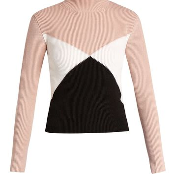 Diamond-intarsia wool sweater | Valentino | MATCHESFASHION.COM US