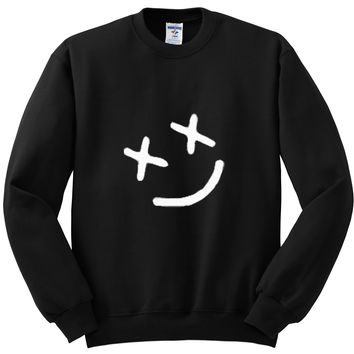 "Louis Tomlinson ""Smiley Face"" Tattoo Crewneck Sweatshirt"