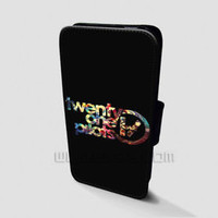 Twenty One Pilot Wallet iPhone Cases Galaxy Nebula Samsung Wallet Leather Cases
