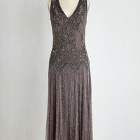 20s Sleeveless A-line Deco Decadence Dress