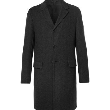 Prada - Slim-Fit Double-Faced Wool, Silk and Cashmere-Blend Overcoat