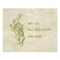 White Rabbit, Alice in Wonderland Poster from Zazzle.com