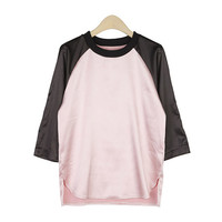 Satin Raglan T-Shirt