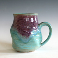 LARGE Coffee Mug, 20 oz, twisted mug, unique coffee mug, ceramic cup, handthrown mug, stoneware mug, pottery mug, ceramics and pottery
