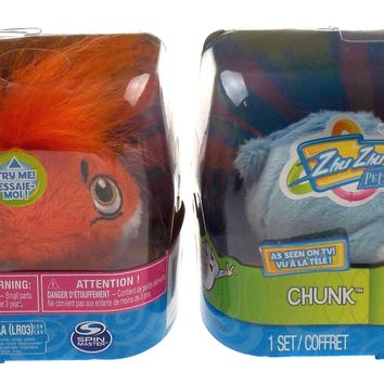 Spin Master Zhu Zhu Pets Chunk Mr Squiggles Pet Hamsters