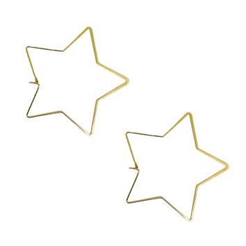 Star Hoop Earrings | 2 Colors